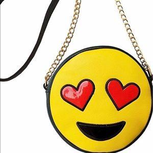Olivia Miller crossover  heart emoji purse!